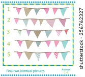 find two identical pictures  ... | Shutterstock .eps vector #256762327