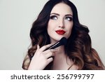 fashion studio photo of... | Shutterstock . vector #256799797
