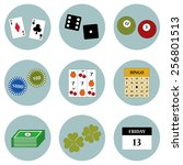 games based on luck icon set... | Shutterstock .eps vector #256801513