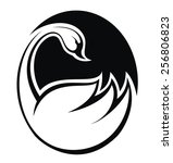 swan abstract illustration | Shutterstock .eps vector #256806823