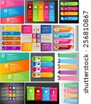colorful modern text box... | Shutterstock .eps vector #256810867