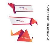 vector origami banners set | Shutterstock .eps vector #256841647