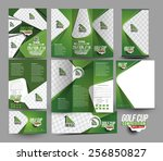 golf club stationery set... | Shutterstock .eps vector #256850827