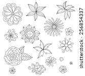 vector set with abstract... | Shutterstock .eps vector #256854337