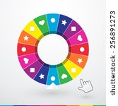 brightly colored wheel of... | Shutterstock .eps vector #256891273