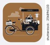 cool detailed vector street... | Shutterstock .eps vector #256896133
