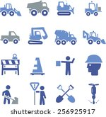 construction and heavy... | Shutterstock .eps vector #256925917