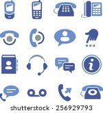 phone and call center icons | Shutterstock .eps vector #256929793