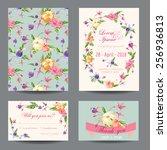 invitation congratulation card... | Shutterstock .eps vector #256936813