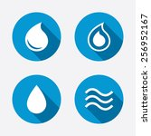Water Drop Icons. Tear Or Oil...