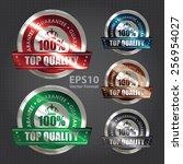 vector    metallic 100  top... | Shutterstock .eps vector #256954027