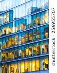 business office building in... | Shutterstock . vector #256955707