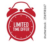 red limited time offer on alarm ... | Shutterstock . vector #256958167