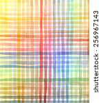 hand drawn watercolor color mix ... | Shutterstock .eps vector #256967143