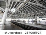 train station background  focus ... | Shutterstock . vector #257005927