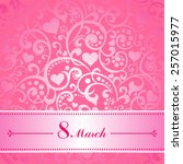 8 March. Greeting Card....