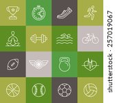 vector linear sport and fitness ... | Shutterstock .eps vector #257019067
