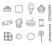 sweets and confectionery. set... | Shutterstock .eps vector #257026393