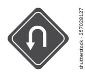 curve arrow vector image to be... | Shutterstock .eps vector #257028127