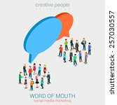 social marketing word of mouth... | Shutterstock .eps vector #257030557
