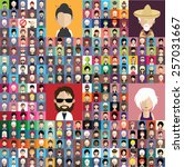 set of people icons in flat... | Shutterstock .eps vector #257031667