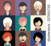 set of people icons in flat... | Shutterstock .eps vector #257031733
