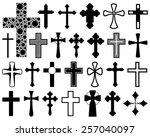 set of different crosses...