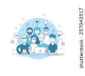 creative team. | Shutterstock .eps vector #257043517