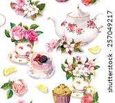 Teatime Pattern With Flowers I...