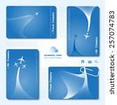 vector set of air company... | Shutterstock .eps vector #257074783