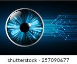 dark blue light abstract... | Shutterstock .eps vector #257090677
