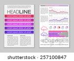 brochure template design with...   Shutterstock .eps vector #257100847