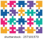 illustration of colorful shiny... | Shutterstock .eps vector #257101573