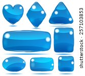 set of opaque glass shapes in... | Shutterstock .eps vector #257103853