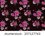 pattern lined with beautiful... | Shutterstock .eps vector #257127763