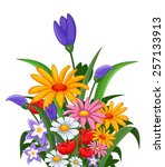 flowers for you design | Shutterstock .eps vector #257133913