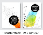 vector poster design template.... | Shutterstock .eps vector #257134057