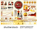 set of photographer work... | Shutterstock .eps vector #257135227