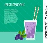 fresh smoothie flat concept...   Shutterstock .eps vector #257160367