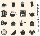 vector set of coffee icons....