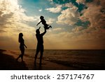 Happy Family Silhouettes On...