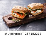Sandwich With Cereals Bread An...