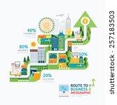 infographic business arrow... | Shutterstock .eps vector #257183503