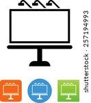 billboard symbol for download.... | Shutterstock .eps vector #257194993