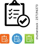 clipboard with check mark icon | Shutterstock .eps vector #257196373
