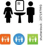 men's and women's bathroom... | Shutterstock .eps vector #257197993