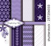 vector floral pattern paper for ... | Shutterstock .eps vector #257206033