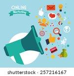 ecommerce design  vector... | Shutterstock .eps vector #257216167