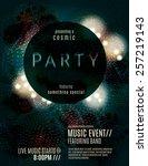 dark eclipse party invitation... | Shutterstock .eps vector #257219143