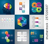 infographic design template can ... | Shutterstock .eps vector #257220337